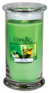 The Candle Factory The Candle Factory Large 15-ounce Jar Crackling Candle, Green Tea