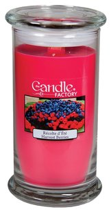 The Candle Factory The Candle Factory Large 15-ounce Jar Crackling Candle, Harvest Berries