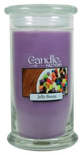 The Candle Factory The Candle Factory Large 15-Ounce Jar Crackling Candle, Jelly Beans