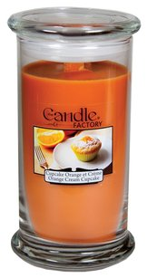 The Candle Factory The Candle Factory Large 15-ounce Jar Crackling Candle, Orange Cream Cupcake