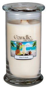 The Candle Factory The Candle Factory Large 15-ounce Jar Crackling Candle, Pina Colada