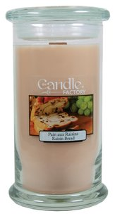 The Candle Factory The Candle Factory Large 15-ounce Jar Crackling Candle, Raisin Bread