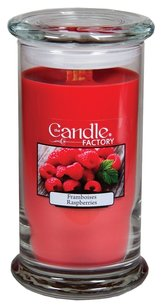 The Candle Factory The Candle Factory Large 15-ounce Jar Crackling Candle, Raspberries