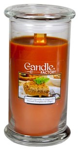 The Candle Factory The Candle Factory Large 15-ounce Jar Crackling Candle, Streusel Pumpkin Ginger