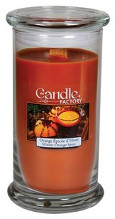 The Candle Factory The Candle Factory Large 15-ounce Jar Crackling Candle, Winter Orange Spice