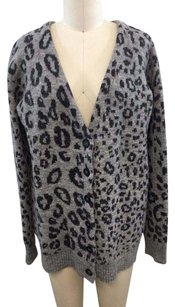 The Kooples Wool Leopard Print Cardigan Sweater