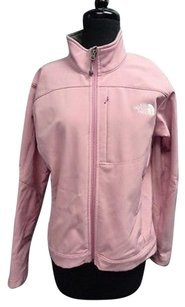 The North Face Long Sleeved Full Zipper High Neck Polyester Sma9486 Pink Jacket