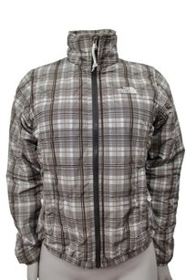The North Face The North Face Brown White Full Zip Plaid Jacket