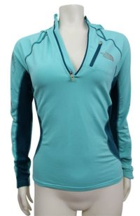 The North Face The North Face Teal Color Block Hoodie Athletic Jacket