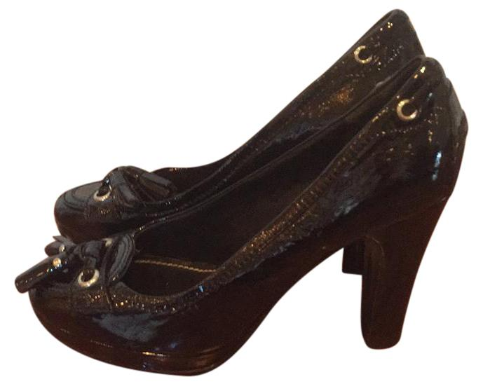 Car Shoe Patent Buckle Pumps
