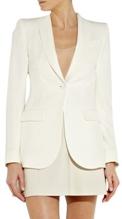 The Row Runway Classic Silk Crepe Chic Ivory Blazer