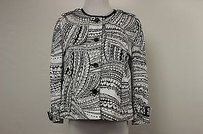 THE WRIGHTS Womens Black White Printed Basic Blazer Cotton Multi-Color Jacket