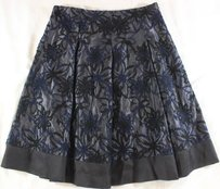 THE WRIGHTS Black Ld Skirt