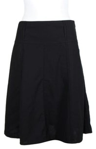 Theory Womens Wool Blend Below Skirt Black