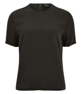 Theory Arane Silk Top Black