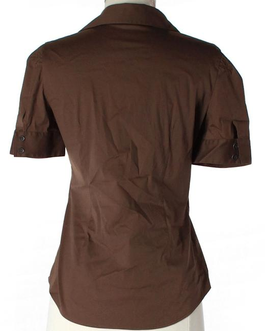 Theory Button Down Shirt Brown