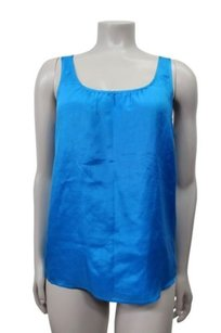Theory Silk Sleeveless Top Blue