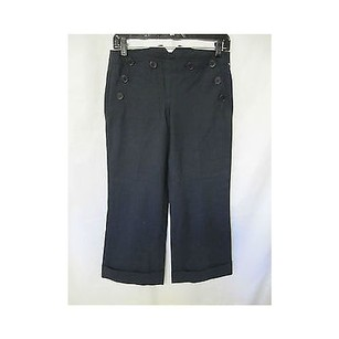 Theory Womens Navy Blue Wool Capri/Cropped Pants Blues
