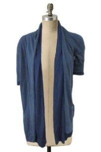 Theory Sp Cardigan Layered Duster Open Front Loose Fit Sweater