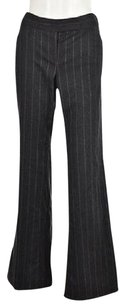 Theory Womens Charcoal Gray Dress 1012 Striped Flared Wtw Trousers Pants