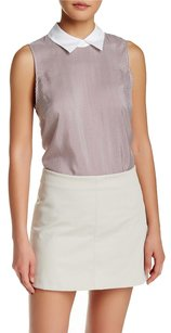 Theory Marbie Amana Silk Tank Top Cassis