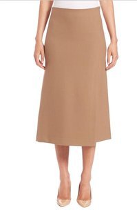 Theory Midi A-line Anneal Skirt Camel