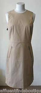 Theory Colete Z Westside Khaki Sheath Dress