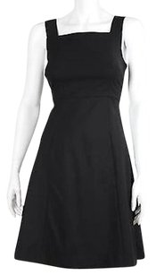 Theory Womens Solid 0 Sleeveless Wool Blend Above Knee Sheath Dress