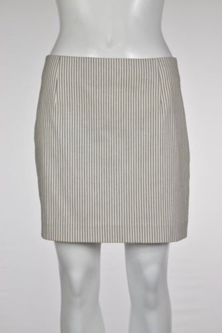 499f309e910c Theory Womens Navy Cream Straight Skirt Striped Cotton Above Knee Career  low-cost