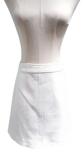 Theory Stretchy A-line Mini Nylon Mini Skirt White