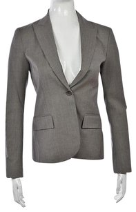 Theory Theory Womens Gray Speckled Blazer Wool Long Sleeve Career Jacket