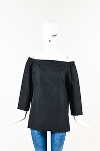 Theory Off The Shoulder Top Black
