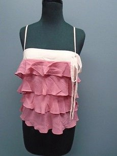 Theory Thin Top Pink And Peach