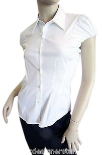 Theory Cotton Blend Sorine Top White
