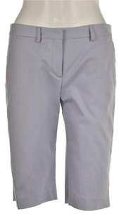Theory Palmer Womens Pale Solid Bermuda Shorts Blue