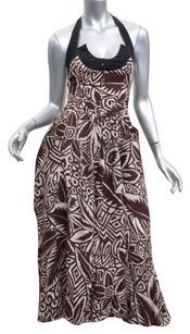 Thierry Mugler short dress Brown Vintage Womens Floral Print Halter Fitflare Sun 360 on Tradesy