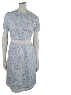 Thom Browne short dress Baby Blue Floral 1950's Pleated Short Sleeve Ribbon on Tradesy