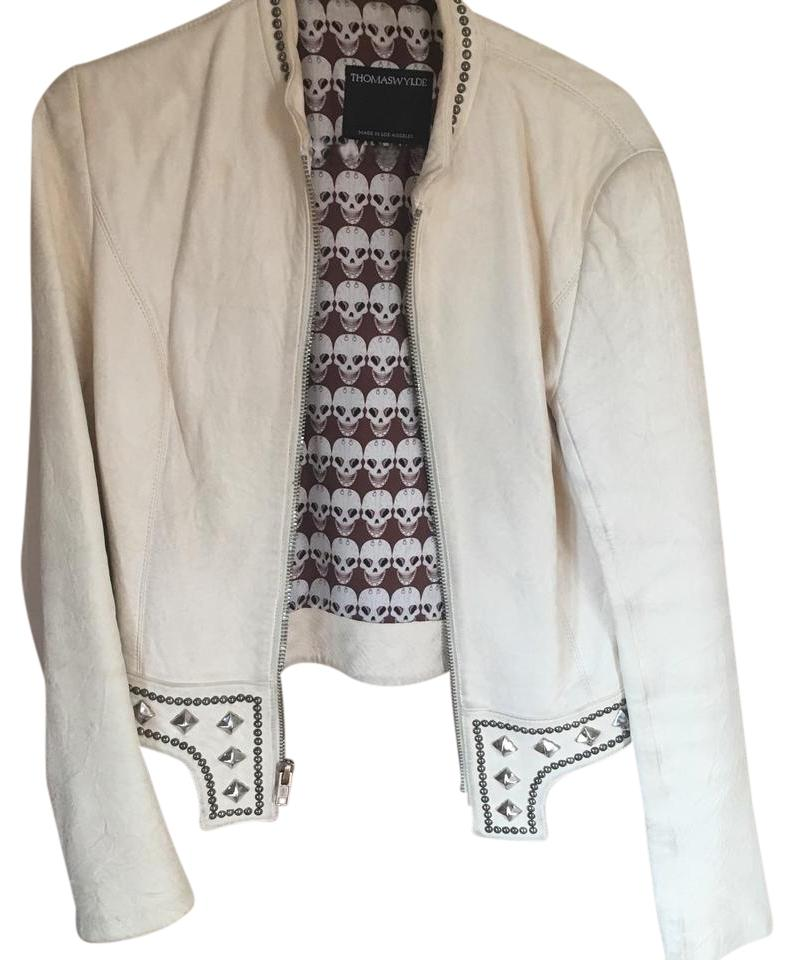 Cream leather jackets