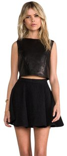 Tibi Black Crop Sleeveless Top