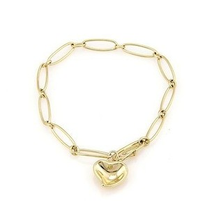 Tiffany & Co. 18k Yellow Gold Tiffany Co. Elsa Peretti Spain Bracelet W Curved Heart Charm