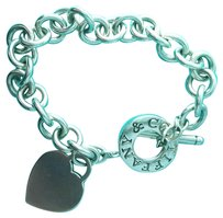 Tiffany & Co. CHARMING!!!! Tiffany & Co. Heart and Toggle Charm Bracelet Sterling Silver 7