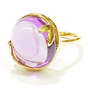 Tiffany & Co. GORGEOUS!!!! Tiffany & Co. Paloma Picasso 18 Karat Yellow Gold Olive Leaf with Amethyst Ring