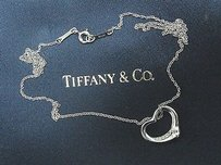 Tiffany & Co. Tiffany,Co,Platinum,Elsa,Peretti,Open,Heart,Diamond,Pendant,.03ct,16