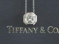 Tiffany & Co. Tiffany,Co,Platinum,Lucida,Diamond,Bezel,Set,Pendant,Necklace,1.58ct,E-vvs1