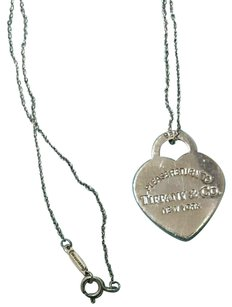 Tiffany & Co. Please Return To Tiffany & Co. New York 925 Heart Charm Necklace