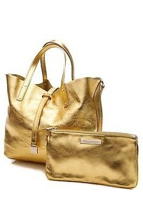Tiffany & Co. Leather Tote in Yellow, metallic gold