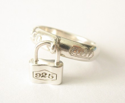 Tiffany & Co. 1837 Sterling Padlock Ring