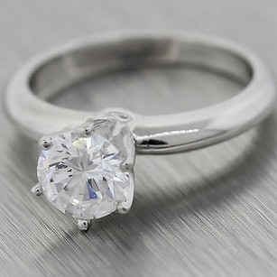Tiffany & Co. Vintage Tiffany & Co. D-vvs1 Gia Platinum 1ctw Solitaire Round Engagement Ring