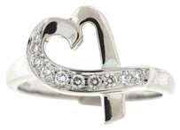 Tiffany & Co. Tiffany & Co. 18k White Gold Loving Heart Paloma Picasso Diamond Ring