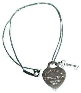 Tiffany & Co. Tiffany & Co Heart Tag with Key Pendant & Necklace